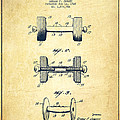 Dumbbell Patent Drawing From 1927 - Vintage by Aged Pixel