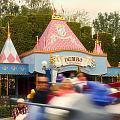 Dumbo Flying Elephants Fantasyland Signage Disneyland 02 by Thomas Woolworth