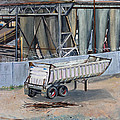 Dump Truck Bin And Steel Mill by Asha Carolyn Young