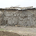 Dung Huts Of The Masai by Michael Schaff