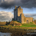 Dunguaire Castle with Dramatic Sky Kinvara Galway Ireland by Juli Scalzi