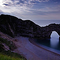 Durdle Door Under A Moonlit Sky by Ian Middleton