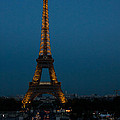 Dusk At Eiffel Tower by Dan Hartford