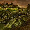 Dusk At Falls Park Greenville Sc by Joel Corley