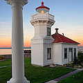 Dusk At Mukilteo Lighhouse by Inge Johnsson