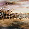 Dusk At The Pond by Wayne Wood