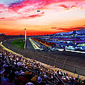 Dusk At The Racetrack by Wayne Wood
