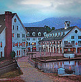 Dusk Before Snow At Town Square by Nancy Griswold