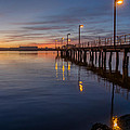 Dusk Settles On Del Norte Pier by Greg Nyquist