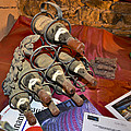Dust Covered Wine Bottles by Allen Sheffield