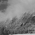 Dusted Flatirons Low Clouds Boulder Colorado Bw by James BO Insogna