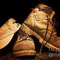 Dusty Work Boots by Phill Petrovic