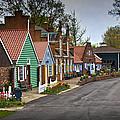 Dutch Shops On Windmill Island In Holland Michigan by Randall Nyhof
