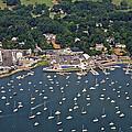 Duxbury Harbor And Downtown Duxbury by Dave Cleaveland