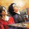 Dylan Moran And Tamsin Greig In Black Books by Miki De Goodaboom