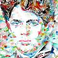 Dylan Thomas - Watercolor Portrait by Fabrizio Cassetta