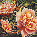 Dynamic Floral V  Roses by Ricardo Chavez-Mendez