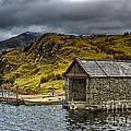 Dywarchen Boathouse Stormy by Graeme Pettit