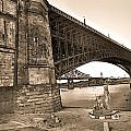 Eads Bridge Sepia by David Coblitz