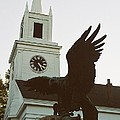 Eagle And Church by Mark Kastelein