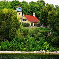 Eagle Bluff Lighthouse Of Door County   by Carol Toepke