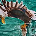 Eagle Fishing by Abelone Petersen