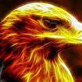 Eagle Glowing Fractal by Lilia D