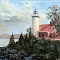 Eagle Harbor Light by Lee Piper