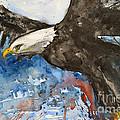 Eagle In Flight by Ismeta Gruenwald