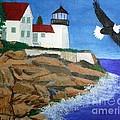 Eagle Isle Light in Casco Bay Maine