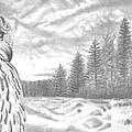 Eurasian Eagle-owl by Raine Cook