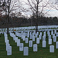 Eagle Point National Cemetery In Winter 1 by Mick Anderson
