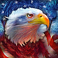 Eagle Red White Blue by Carol Cavalaris