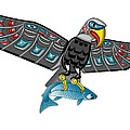Eagle Salmon Totem by Fred Croydon