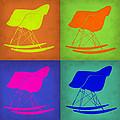 Eames Rocking Chair Pop Art 1 by Naxart Studio