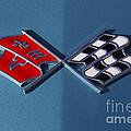 Early C3 Corvette Emblem Blue by Dennis Hedberg