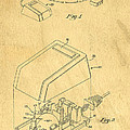 Early Computer Mouse Patent Yellowed Paper by Edward Fielding