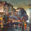 Early Evening In Main Street Nyack by Ylli Haruni