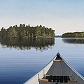 Early Evening Paddle Aka Paddle Muskoka by Kenneth M  Kirsch