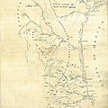 Early Hand-drawn Southern Texas Map C. 1795 by Daniel Hagerman