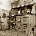 Early Kitchen With A Gas Stove 1920 by California Views Archives Mr Pat Hathaway Archives