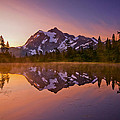Early Morning At Picture Lake by Darren  White
