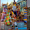 Early Morning Main Street With Mickey Walt Disney World 3 Panel Composite by Thomas Woolworth