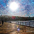 Early Morning Walk On The Pier by Traci Lehman