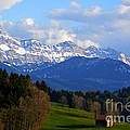 Early Snow In The Swiss Mountains by Susanne Van Hulst