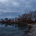 Early Still And Transparent - On The Shores Of Lake Ontario In Toronto by Georgia Mizuleva