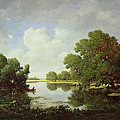 Early Summer Afternoon by Pierre Etienne Theodore Rousseau