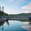 Early Sunset On A Beaver Pond  by Omaste Witkowski