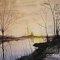Early Winter Riverside by Martin Howard