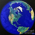 Earth From Space America by Dragica  Micki Fortuna